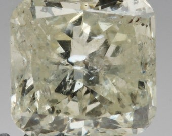 0.42ct Rare Yellow-Green Cushion Cut Loose Diamond