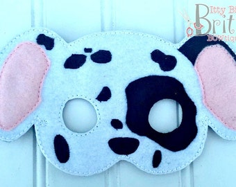 Dalmatian mask, Dog mask, puppy mask