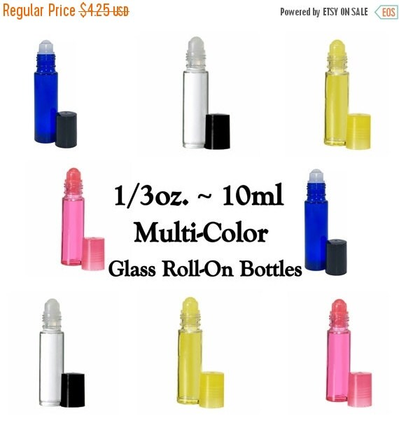 10 Off Sale Multi Color Glass Roll On Bottles By