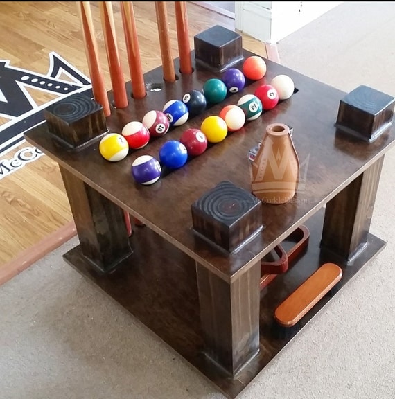 Pool Stick & Cue Rack Holder