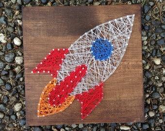 MADE TO ORDER- Rocket String Art
