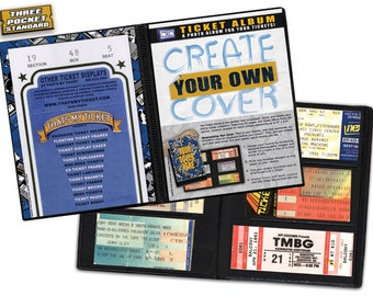 Create-Your-Own Cover Ticket Stub Album - Concerts, Movies, Sports