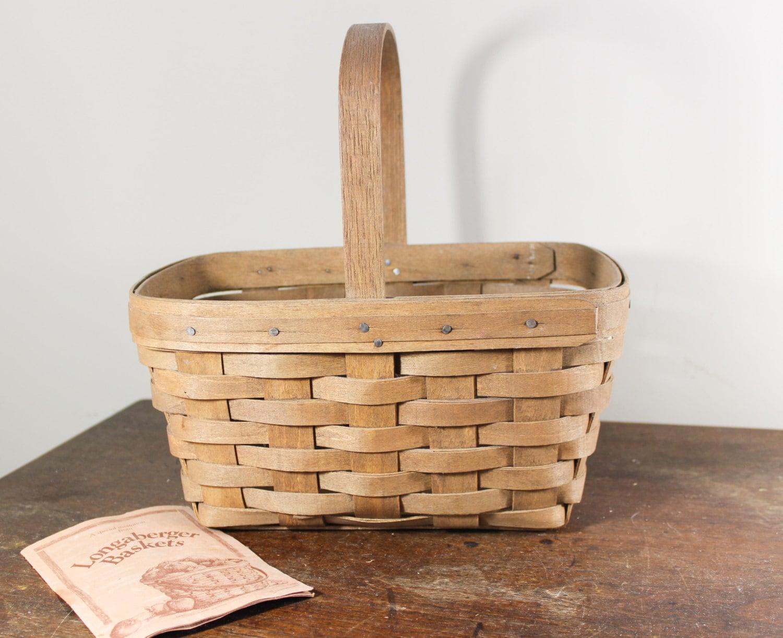 Collectible Longaberger Basket 1985 Small Gathering Basket