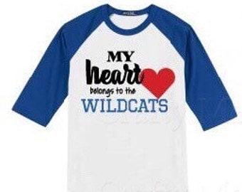 Wildcat heartbaseball tee(adult)