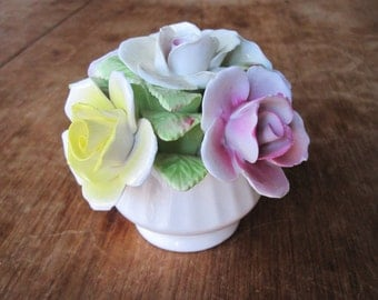 Royale Stratford - Fine Bone China -  Pink and Yellow Roses - Handcrafted in Staffordshire England