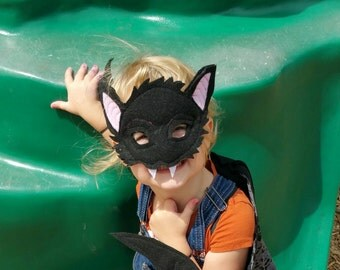 Bat Mask Costume Kids Ages 1 to Adult