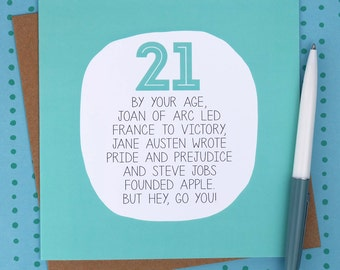 21st Birthday Card - Funny birthday cards - funny 21st card - funny 21st birthday card - birthday card 21