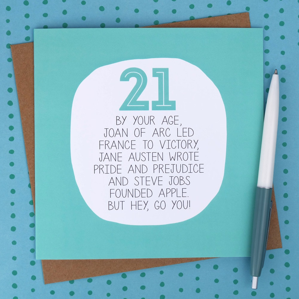 Funny 21St Birthday Cards gangcraftnet – 21st Birthday Card Sayings