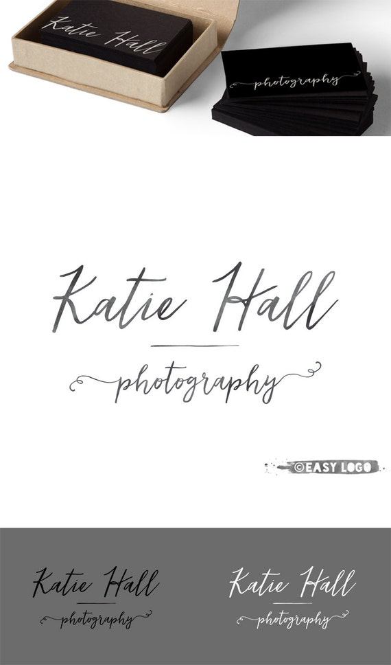 Modern calligraphy logo photography text only