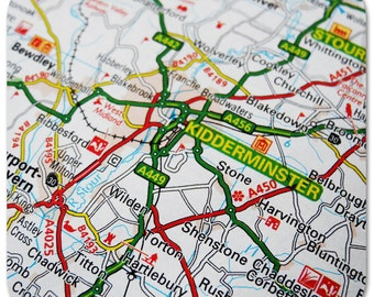 Kidderminster Map Coasters