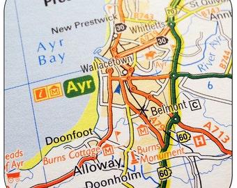 Ayr Map Coasters
