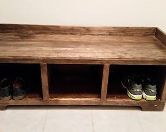 Storage Bench- Handmade - Solid wood