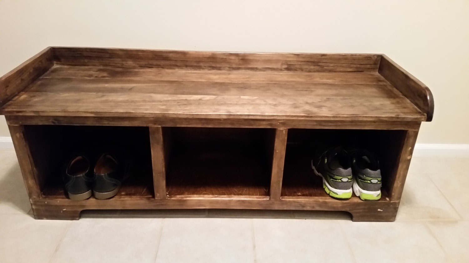 Storage Bench Handmade Solid Wood