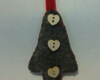 Handmade felt tree decoration