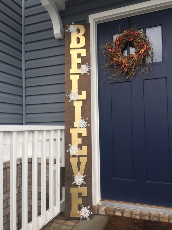 Huge Believe Christmas Porch Decoration