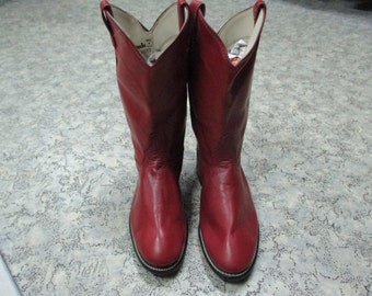 Camperos rossi made in Usa. Vera pelle/ American red boots/Cowboys red boots