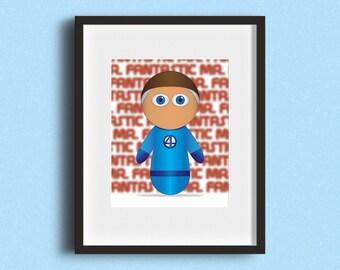 "8x10"" Mr Fantastic Print"