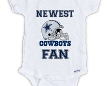 Dallas COWBOYS FAN Baby Onesie, Baby Bodysuit, Football Onesie, Great Baby Shower Gift, Mother's Day, Father's Day, Cowboys onesie