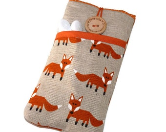 Foxes iPhone 6s case Fabric case iPhone 5 Pouch iPhone 6s Plus Case  iPhone SE  iPod Touch 6g sleeve