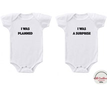 Twin onesies, twin baby clothes, twin girl onesies, twin boy onesies, funny twin onesies, baby twins, matching twin onesies