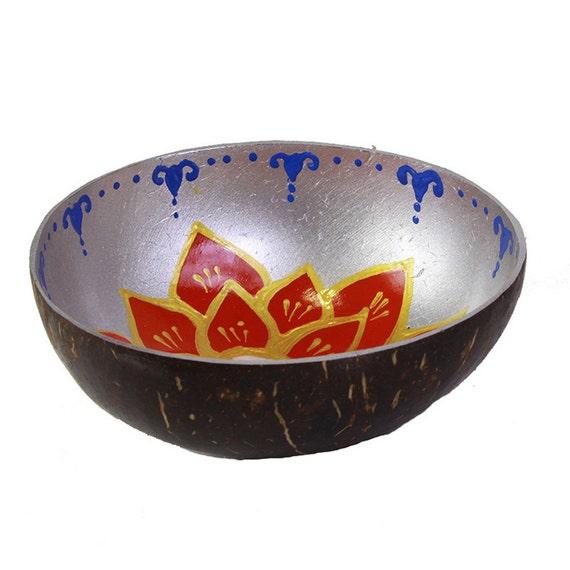 Classic Oriental Decorative Multipurpose Handmade Coconut Shell Handcraft Bowl (PC 38)