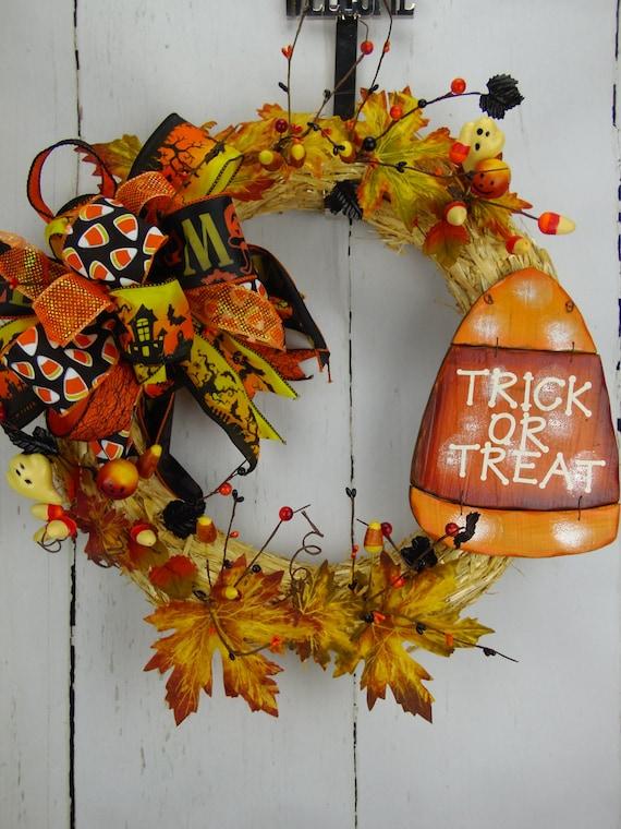 il_570xn - Halloween Candy Wreath