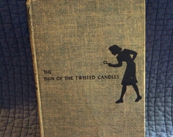 Nancy Drew The Sign of the Twisted Candles/First Edition Nancy Drew