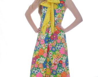 FREE US SHIPPING Chic Me Maxi Floral Hippie Dress