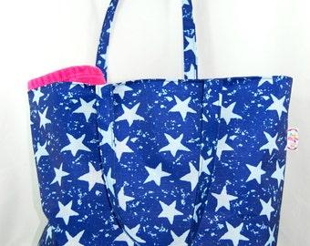 Blue Star Waterproof Beach/Tote Bag, internal zipped pocket