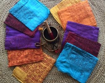 Indian Mantra Cotton Mixed Deity Scarves