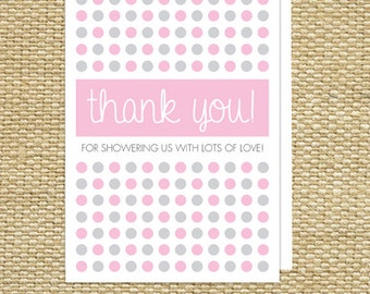 Baby Shower Thank You Cards - PinkyDots