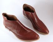 The Terilyn COT~ 3cm Heel ~ Chestnut Brown Italian Leather~ Handmade boot
