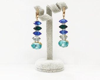Earrings handmade from Swarovski
