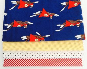 1 Yard Bundle Monkey Tales with Mixed Fabrics- 4 Fabrics