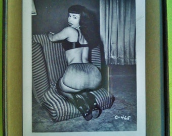 Bettie Page- Original Photographic Print, Framed