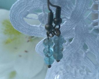 Apatite drop earrings
