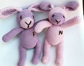 SPECIAL OFFER Personalized Soft Toys, Twins Soft Toys, Crochet Animals with Letter Names, Gift for Twins, Newborn Gifts, Newborn Photo Prop