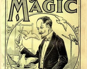 Hermann's Art of Magic 1940s Wehman Bros. Paperback Book Original Tricks Cards Cardistry
