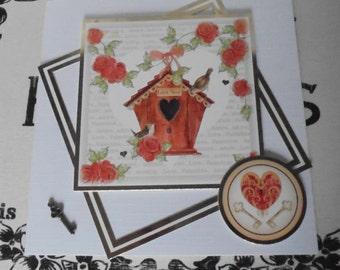 Love nest card. Valentine's day. Happy Valentine's day card.