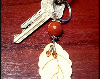 Leaf key chain