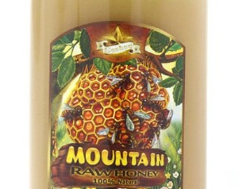 100% Natural Raw Domestic Mountain Honey - Made in USA (Lancaster, PA) 1lb - *Amish Honey