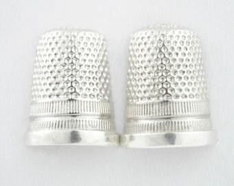 Pendientes de plata en forma de dedal, dedales, joyería