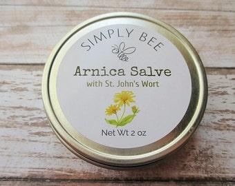 Arnica Salve, St John's Wort Salve, Muscle Rub, Arnica Balm, Herbal Salve, Herbal Balm