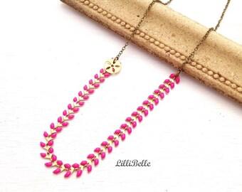Necklace Ayanna - Fuchsia