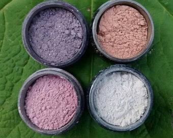 Mineral Eyeshadow, mineral makeup, eyeshadow, mica, mineral, sample pack, You pick three colors