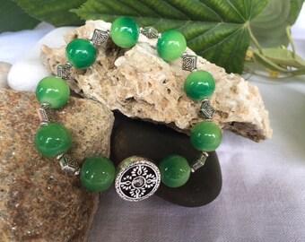 Beaded Bracelet, Green Beaded Bracelet