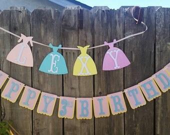 Princess birthday banner,disney princess