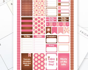 Sugar & Spice Printable Planner Stickers for the Classic MAMBI Happy Planner