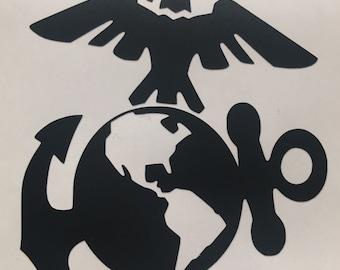 Marine EGA Die Cut Vinyl Decal