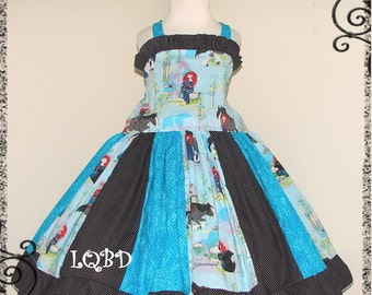 Girls BRAVE Merida Princess Dress - - Ready to Ship - fits approx 3/4T 4 - Birthday Party - Ruffles